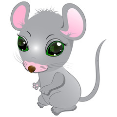 little cute mouse vector