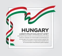 Hungary flag background