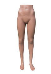 Female mannequin, isolated on white background.