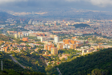 Barcelona. Aerial view of the city.