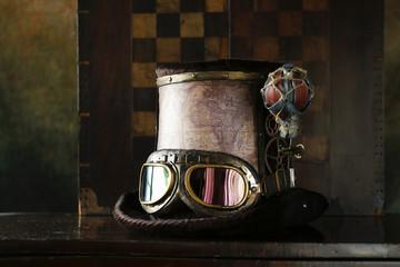 Steampunk cappello giro del mondo in pallone fine 800