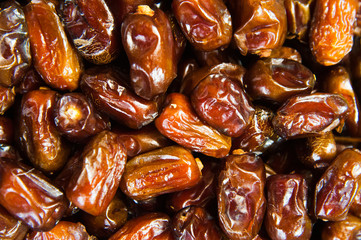 Dates fruit as background or texture