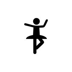 silhouette of ballerina icon. Elements of Russian culture icon. Premium quality graphic design icon. Simple icon for websites, web design, mobile app, info graphics