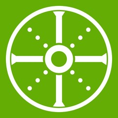 Round shield icon green