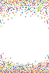 Colorful Confetti Celebration Vertical Vector Illustration 1