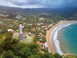 Arial cityscape of San Juan Del sur