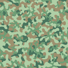 Camouflage pattern seamless background. Animal military camouflage. Abstract seamless pattern for army, hunting, fashion cloth textile. Colorful modern soldier style. Vector militaristic texture.