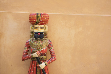 Rajasthani sculpture Rajput at Amer Fort