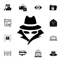 Spy, agent icon. Set of cybersecurity icons. Signs, outline symbols collection, simple icons for websites, web design, mobile app, info graphics