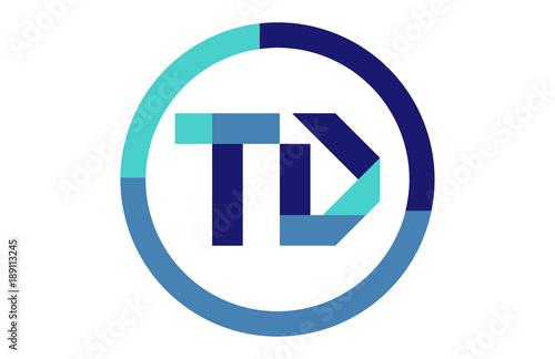Td Global Circle Ribbon Letter Logo Stock Image And Royalty Free