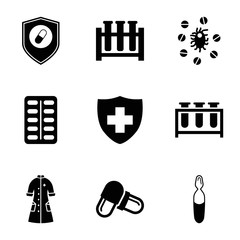 Pharmacy icons. set of 9 editable filled pharmacy icons