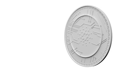 Cardano Coin (ADA) Render. Cardano is a decentralised public blockchain cryptocurrency with smart contracts