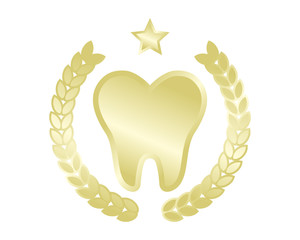 golden tooth teeth dental dentist dent image icon