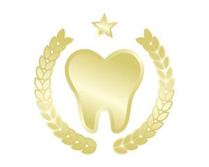 golden tooth teeth dental dentist dent image icon