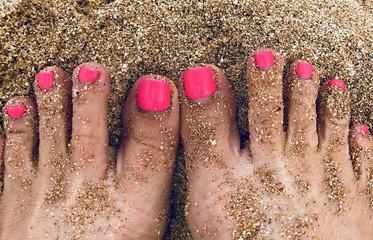 Toes in the Sand, Waimea Bay, Oahu Wall mural