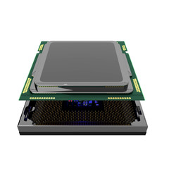 cpu computer chip isolated and clipping path