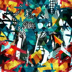 abstract color pattern in graffiti style for your design