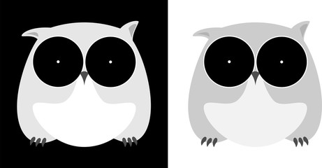 minimalistic owl isolated on a dark background design business logo