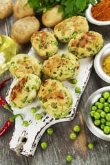 Aloo tikki. Potato cutlets