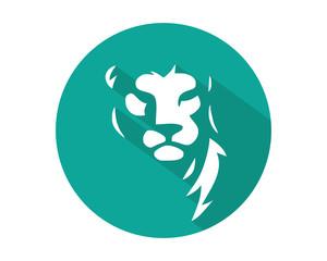 lion leo head face image vector icon logo silhouette