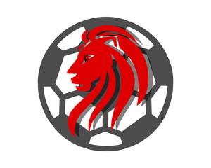 soccer lion leo image vector icon logo