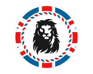 lion leo beast british image vector circle