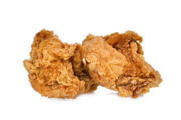 crispy kentucky fried chicken isolated on wite background