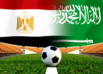 Football Cup  competition between the national Egypt and national Saudi Arabia.