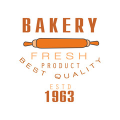 Bakery fresh product, best quality, estd 1963 logo template bread shop badge retro food label design vector Illustration