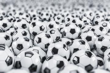 Fussball - Fußball - Fussbälle - Fußbälle - Hintergrund - Tiefenschärfe