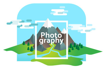 Photography illustrated concept