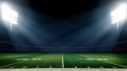 Football field with stadium lights Wall mural