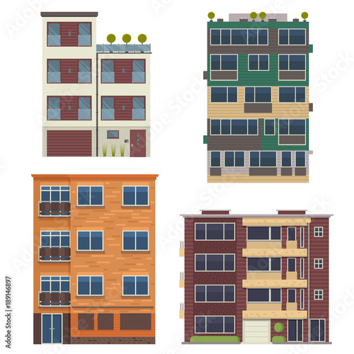 Modern Block City Apartment Buildings For Town Constructor Or Real Inspiration Homes By Design Set