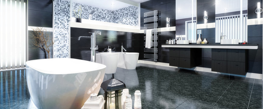 Luxurious Bathroom (panoramic)