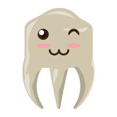 kawaii tooth icon image