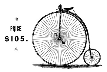Photo sur Aluminium Hochrad - Fahrrad - High wheel bicycle