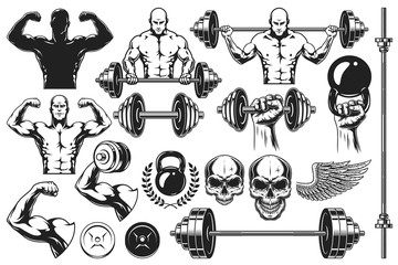 Monochrome elements for bodybuilding