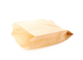 Brown paper bag isolated