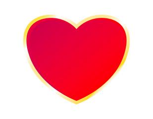 Vector of golden heart icon
