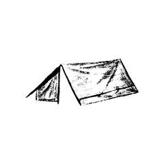 Tent icon vintage