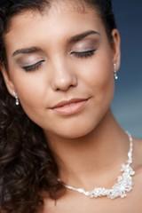 Closeup photo of fresh young face