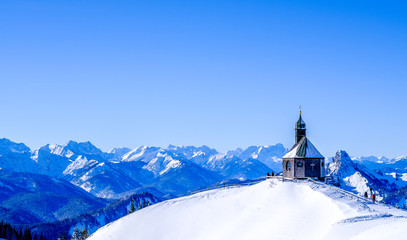 famous little church on the wallberg mountain