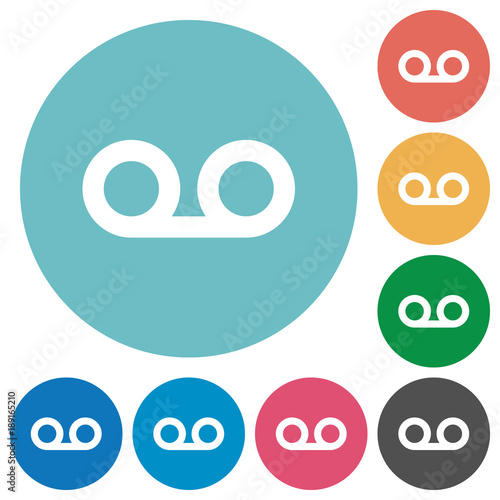 voicemail flat round icons stock image and royalty free vector