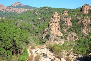 Scenic landscape on Corsica Island, France