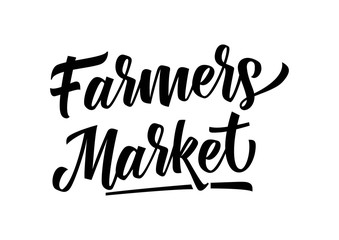 Farmers Market Lettering