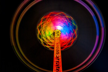 Chairoplane writes traces of light into the air