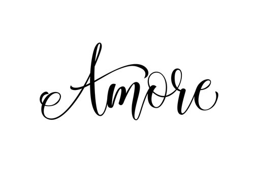 Amore Lettering and Curls