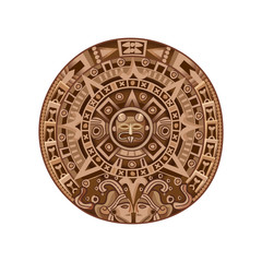 Cartoon Mayan Calendar