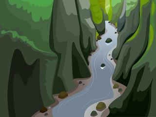 Body Of Land Gorge Illustration