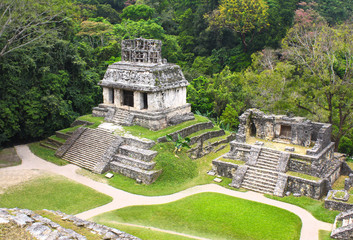 Ruins of Temples of the Cross Group, Palenque, Chiapas, Mexico